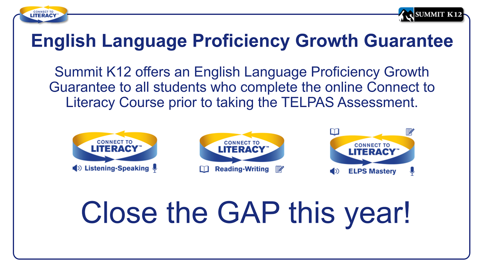 English Language Proficiency Growth Guarantee